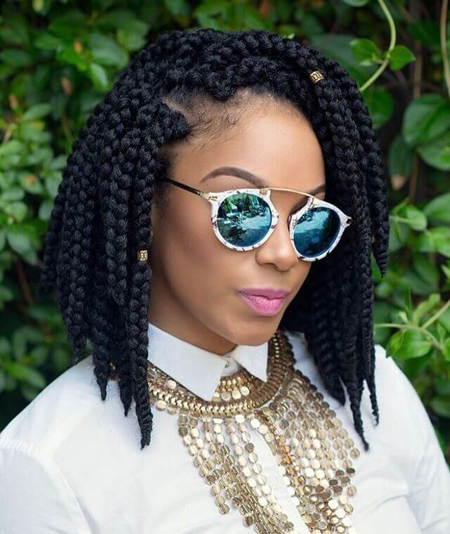 Box Braid Short Hairstyles