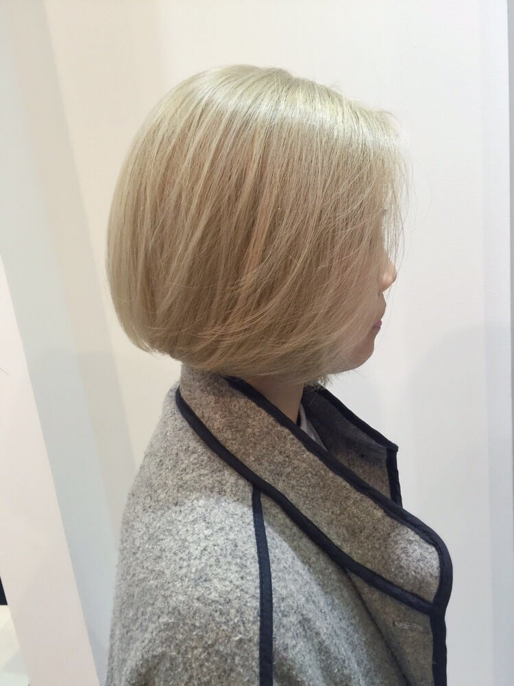 Blonde Bob Cut Hairstyle