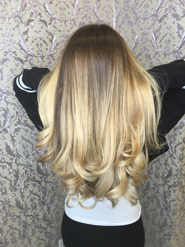 Blonde Long Layered Hairstyle