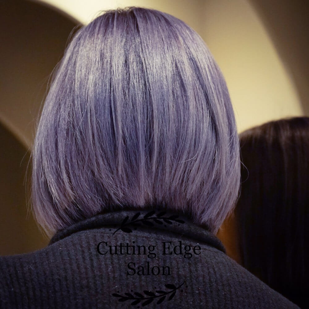 Bob Haircut with Purple Color