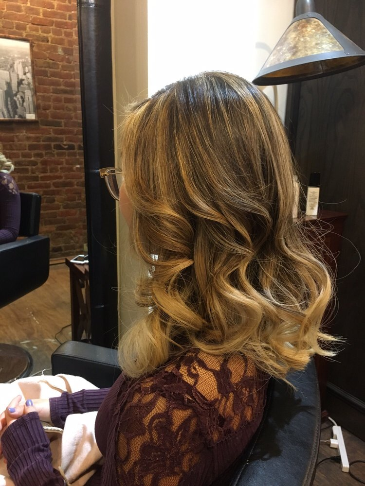 Curly Balayage Hairstyle