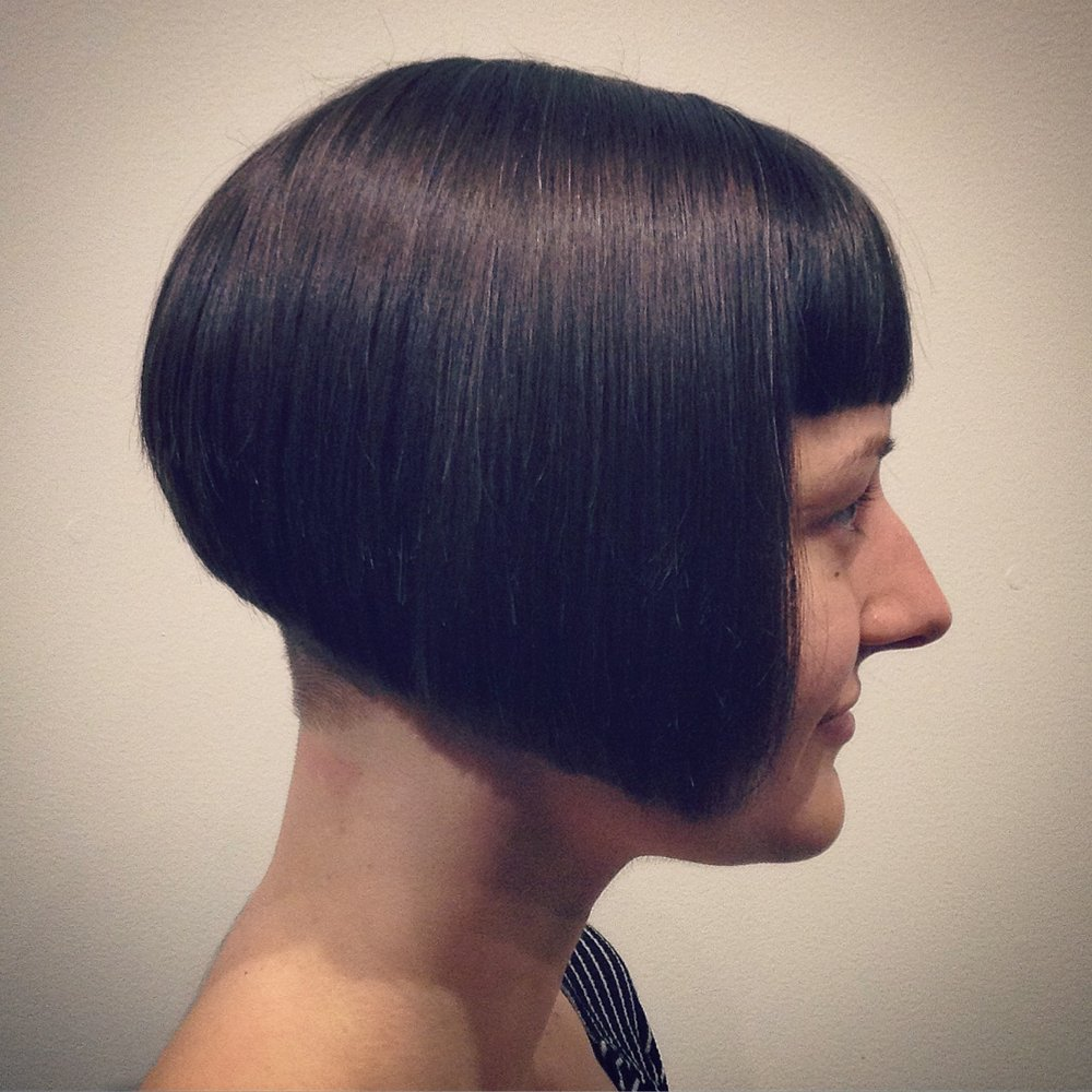 Inverted Bob Hairstyle with Bangs