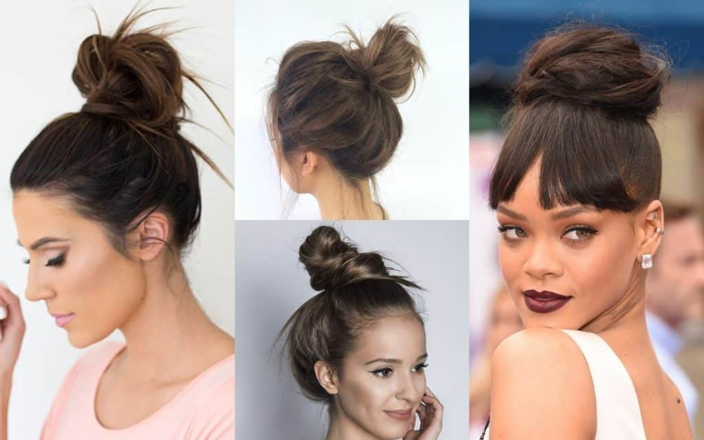 25 Messy Buns Medium Hairstyles for Women | Hairdo Hairstyle