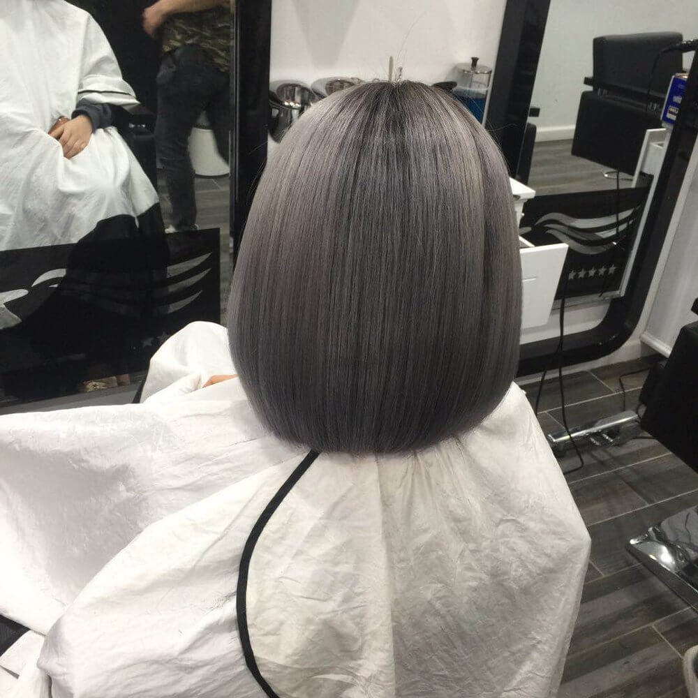 Platinum Bob Hairstyle