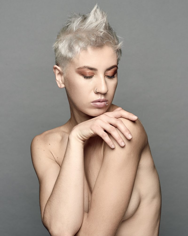 Platinum Pixie Cut Hair