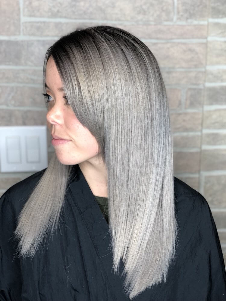 Platinum Straight Medium Hair