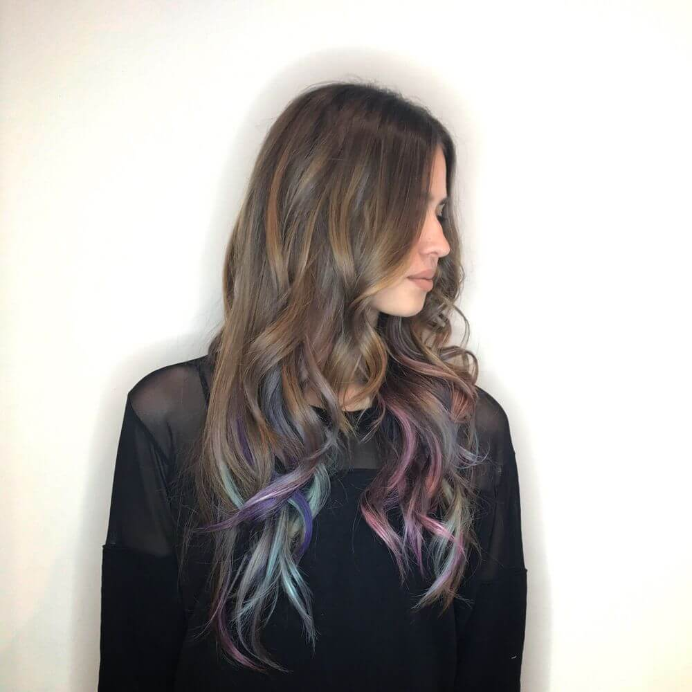Rainbow Hair Highlight