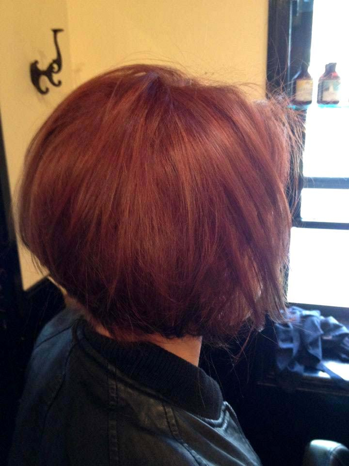 Rose Gold Bob Cut