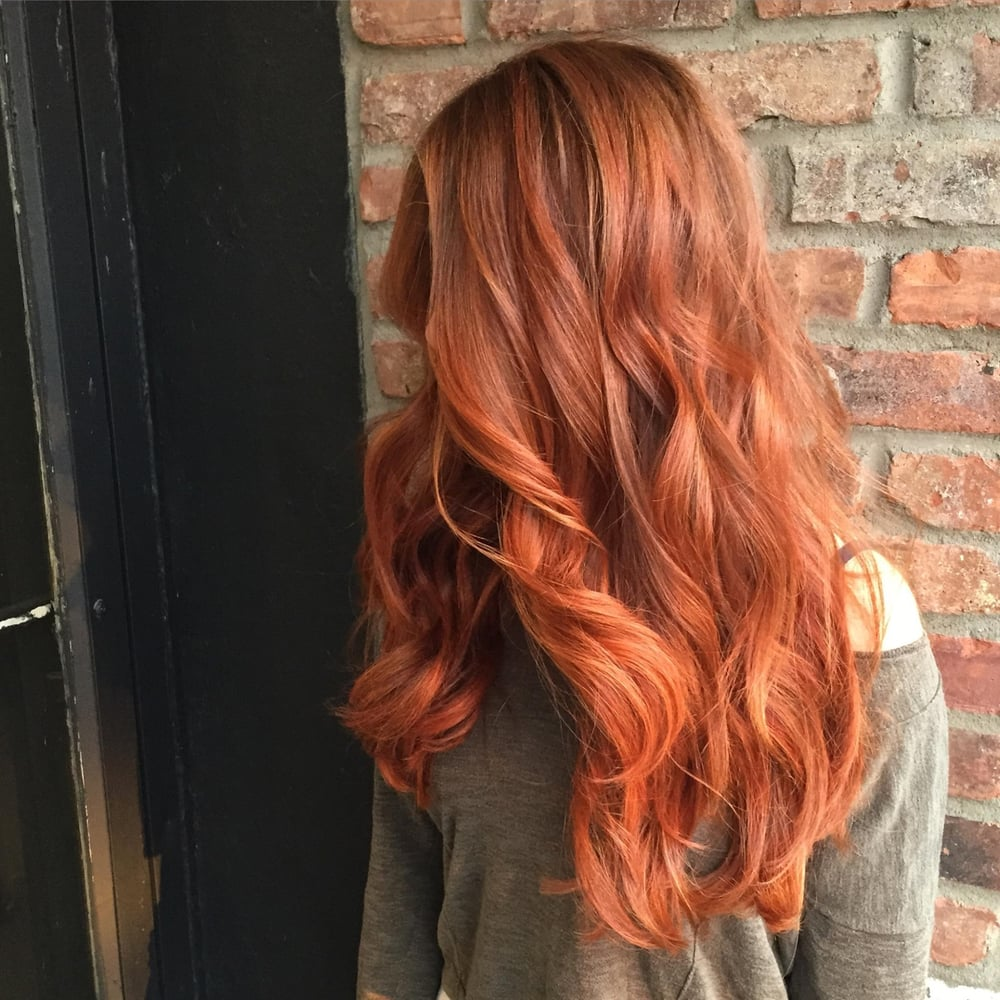 Rose Gold Long Hair