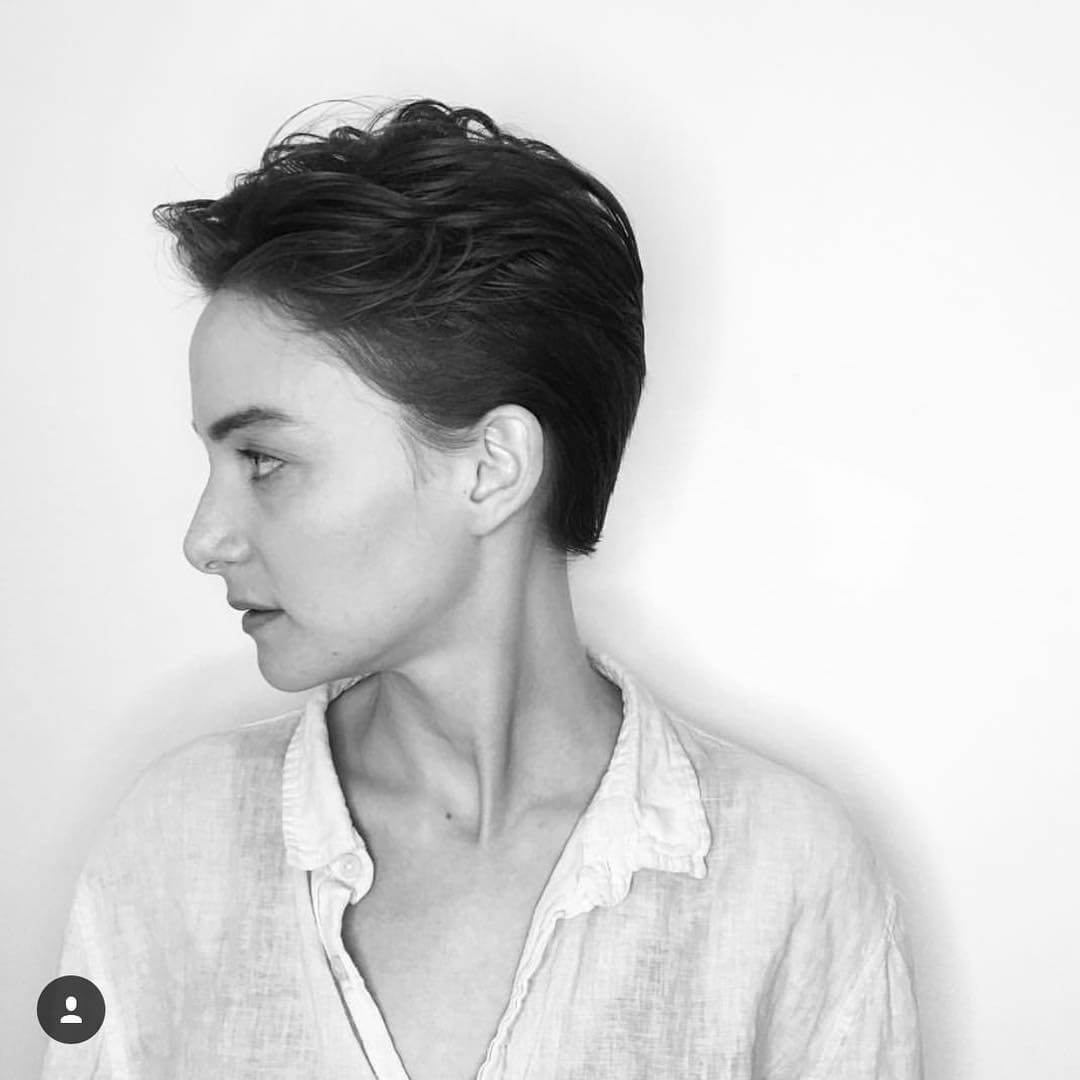 Side Swept Pixie Cut