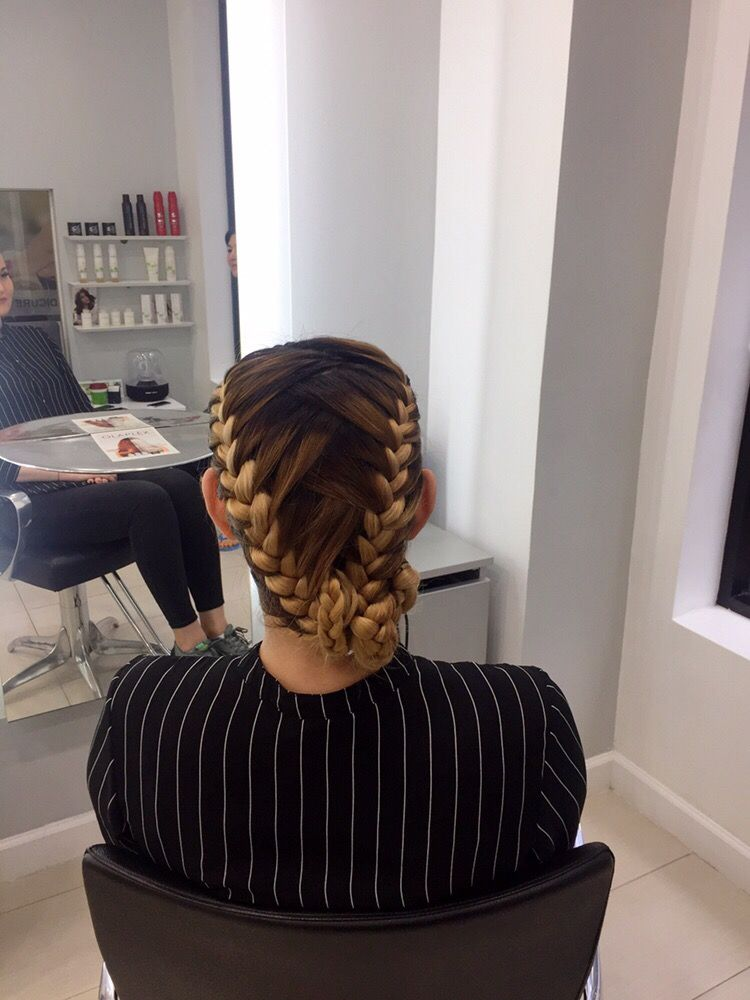 Two Briaded Hairstyle with Bun