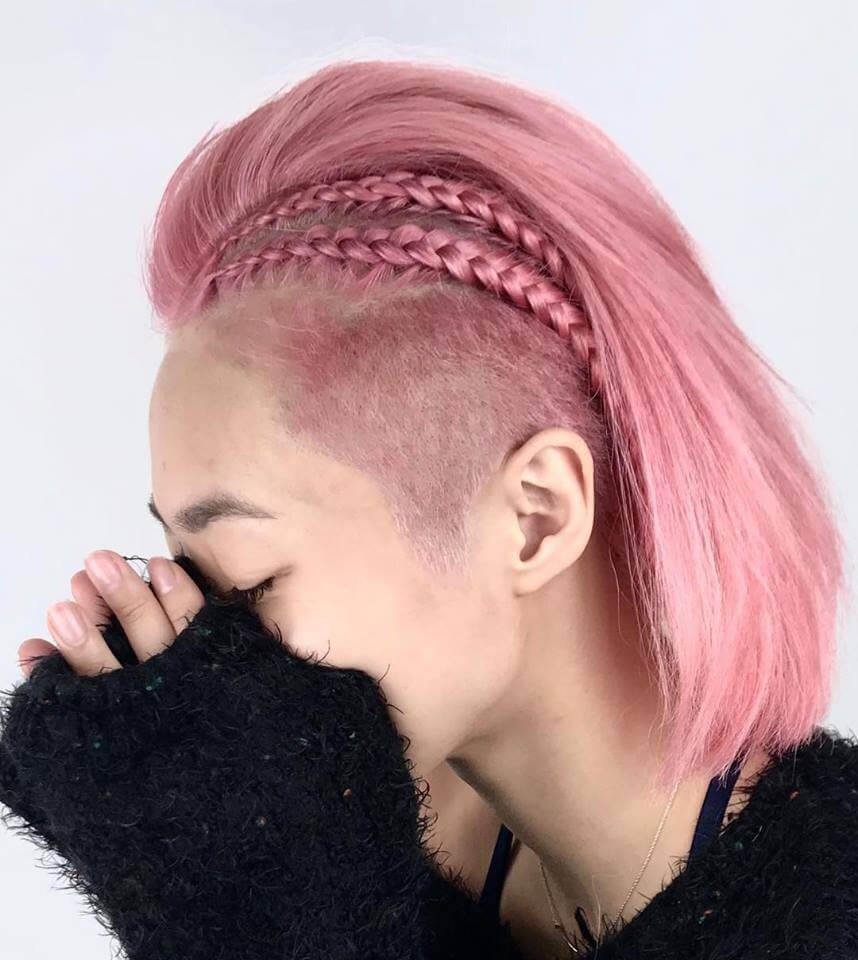 Undercut Short Hairstyle with Briads