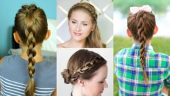 How To Make A Chain Braid Ponytail & Headband