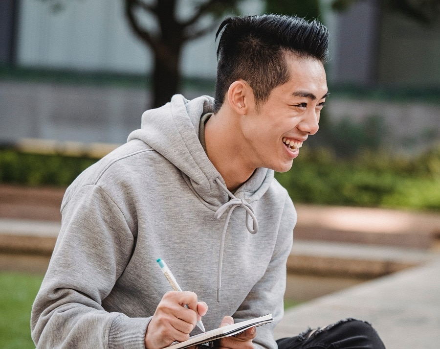 undercut hairstyle for korean man