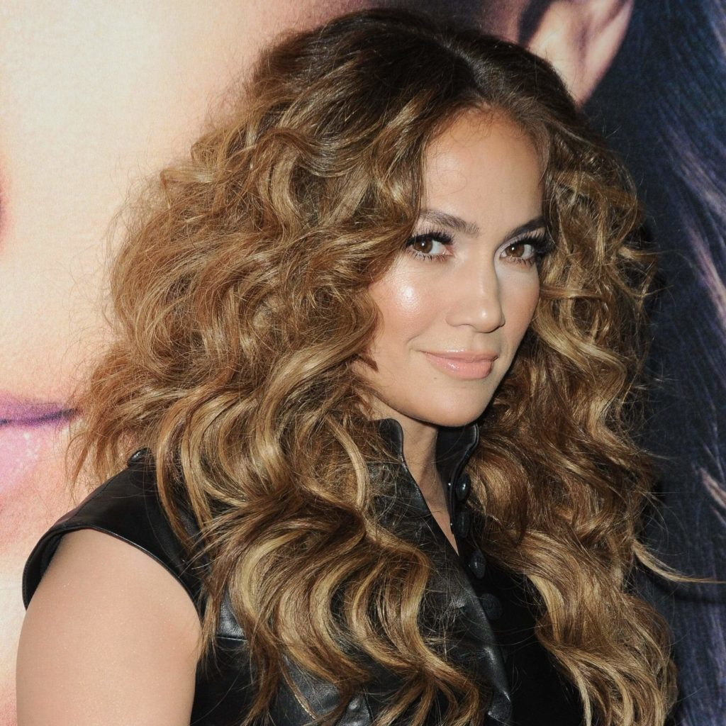Long layered curls for brunette colored hair with dark blonde highlights