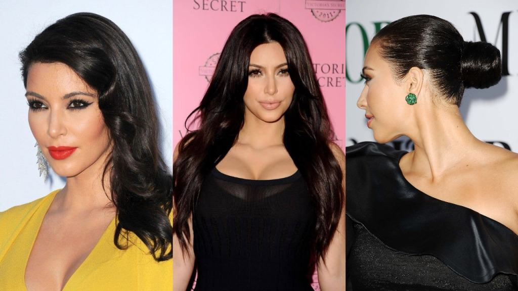 Image result for Kim Kardashian Hairstyles
