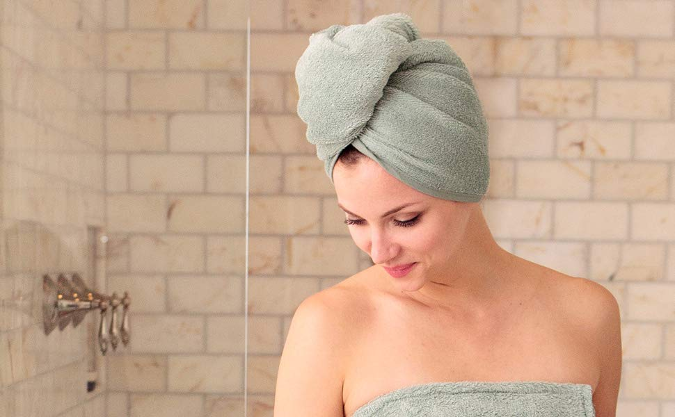 Wrap Hair with Towel