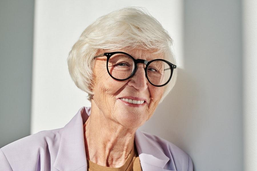platinum bob cut for women over 50