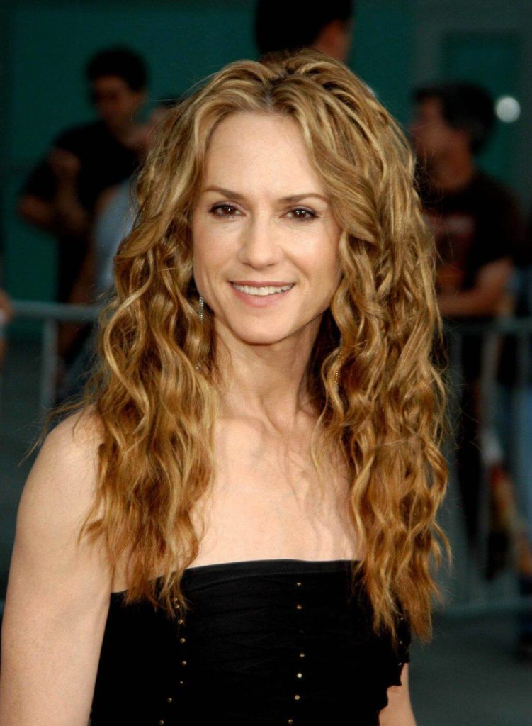Medium Curly Hairstyle With Caramel Hair Color
