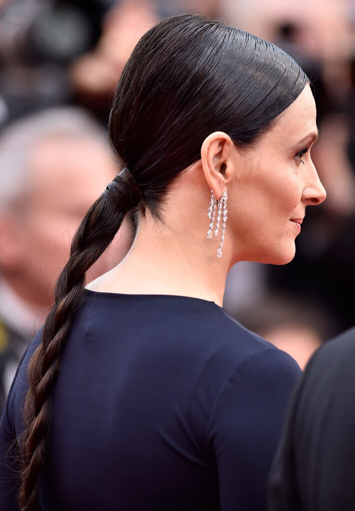 Long Ponytail Braid With Black Hair Color