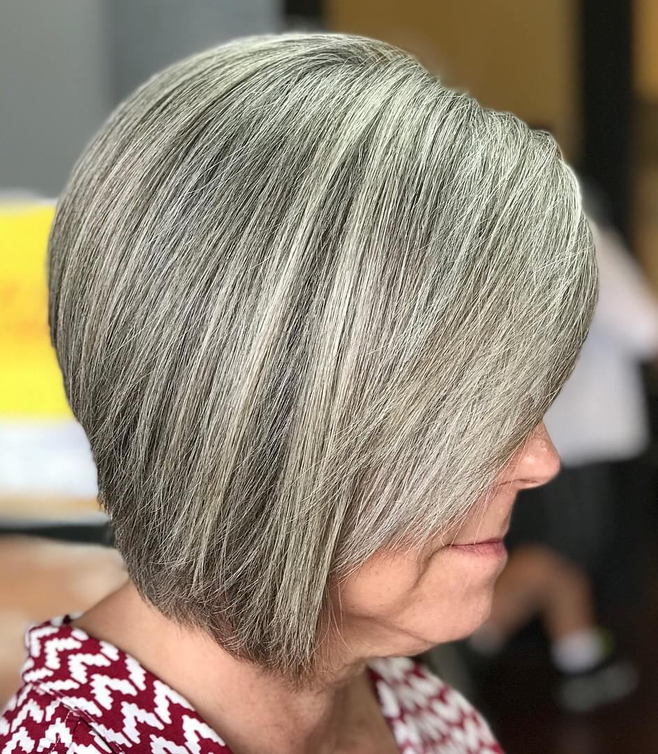 Ombre silver hairstyle