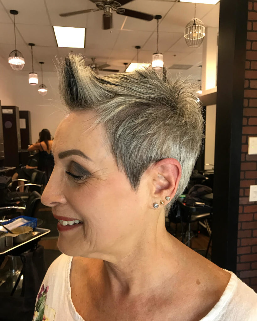 Uptown silver hairstyle