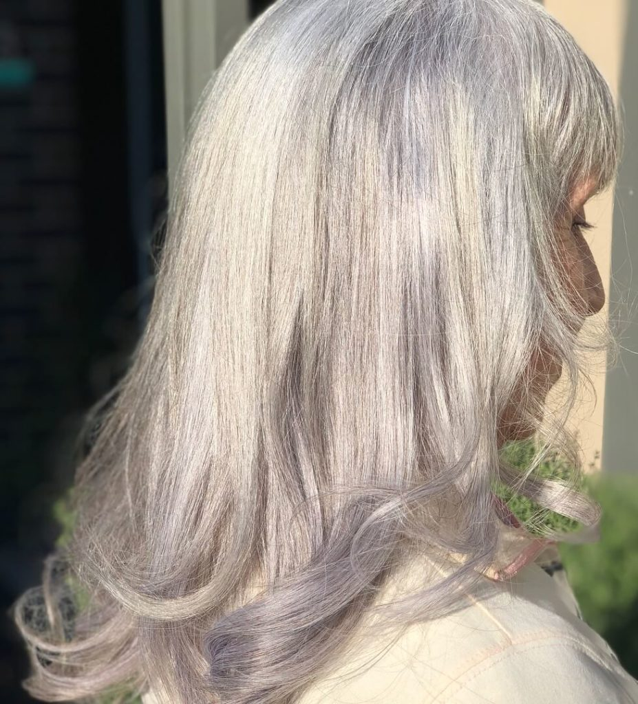 Wedding silver hairstyle