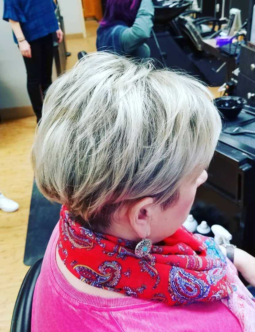 Shag silver hairstyle