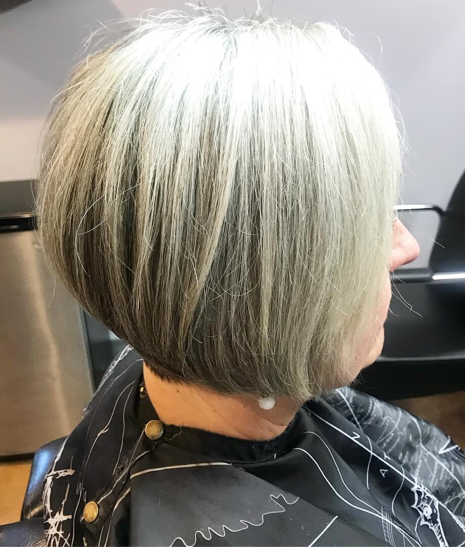 Trendy silver hairstyle