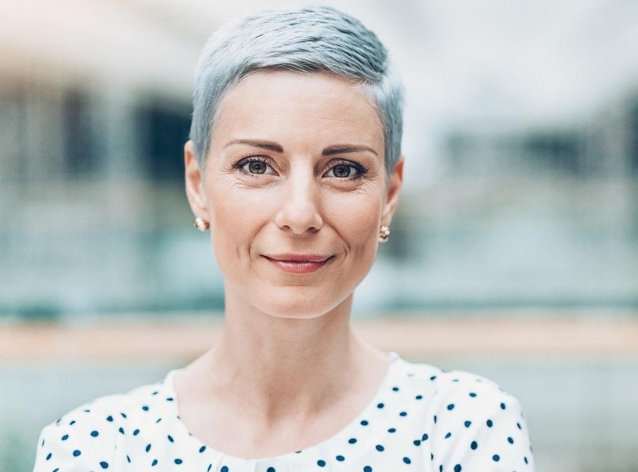 short gray pixie cut for women over 50