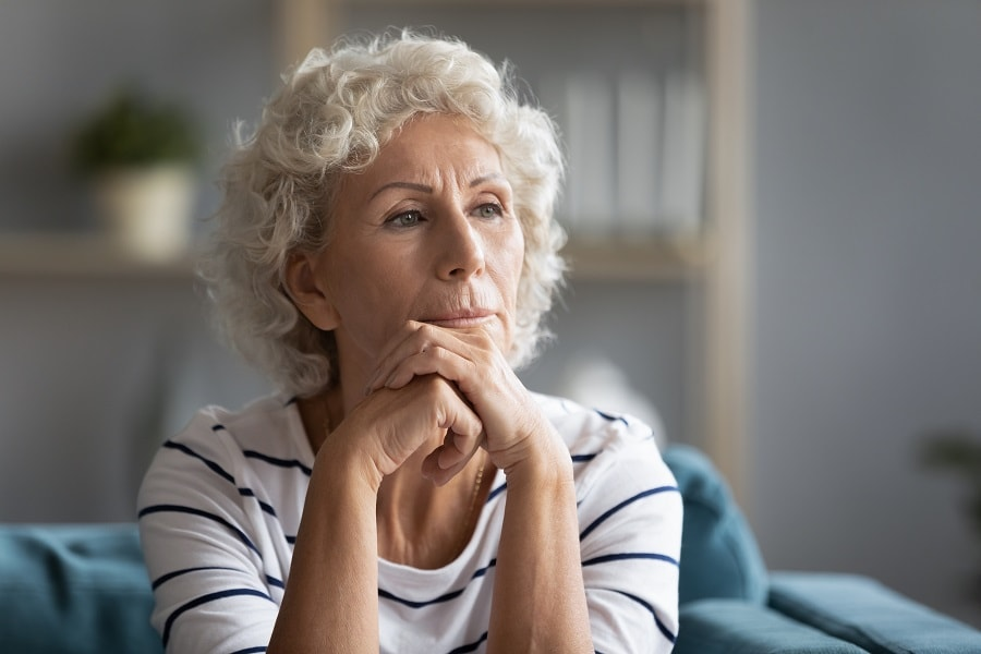 women over 50 with layered hairstyle