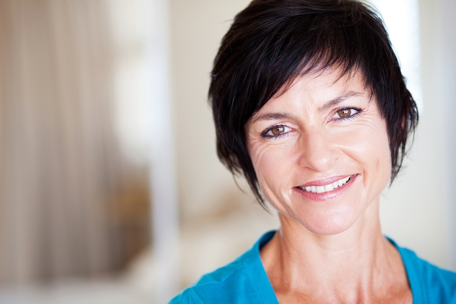 women over 50 with short layered hair
