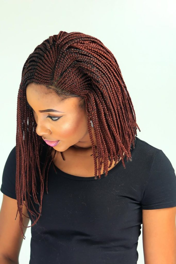 Cornrow V-Side Part Braids