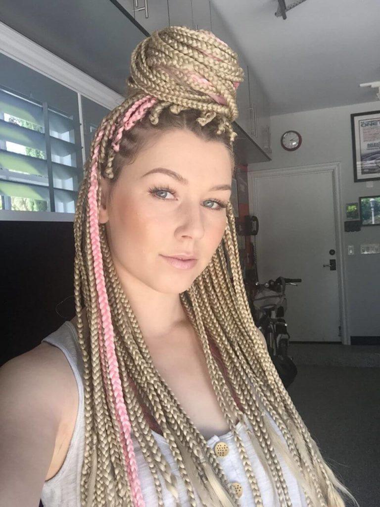 Caucasian Box Braids