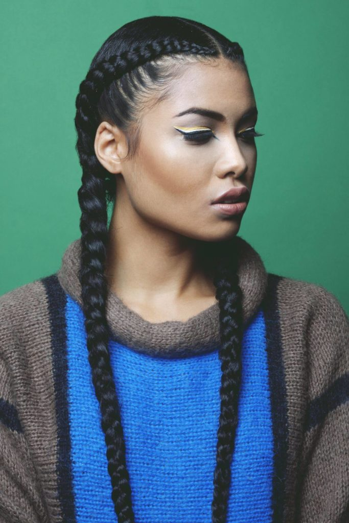Two Braided Cornrow