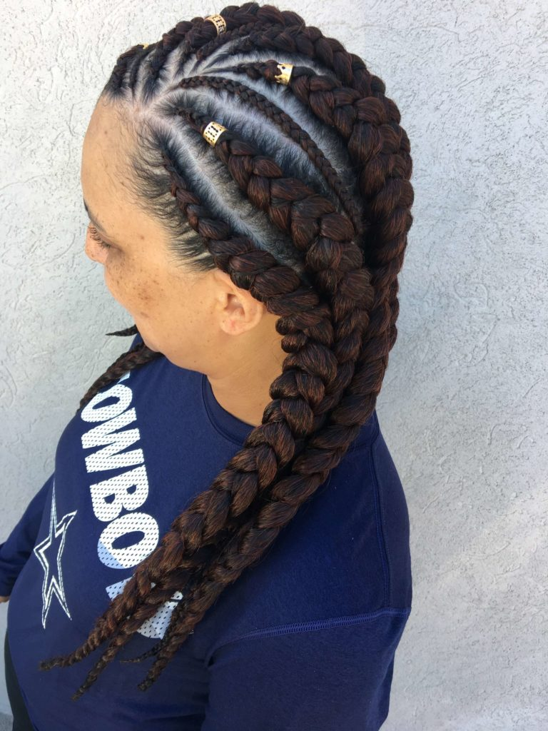 Six Braids Cornrow