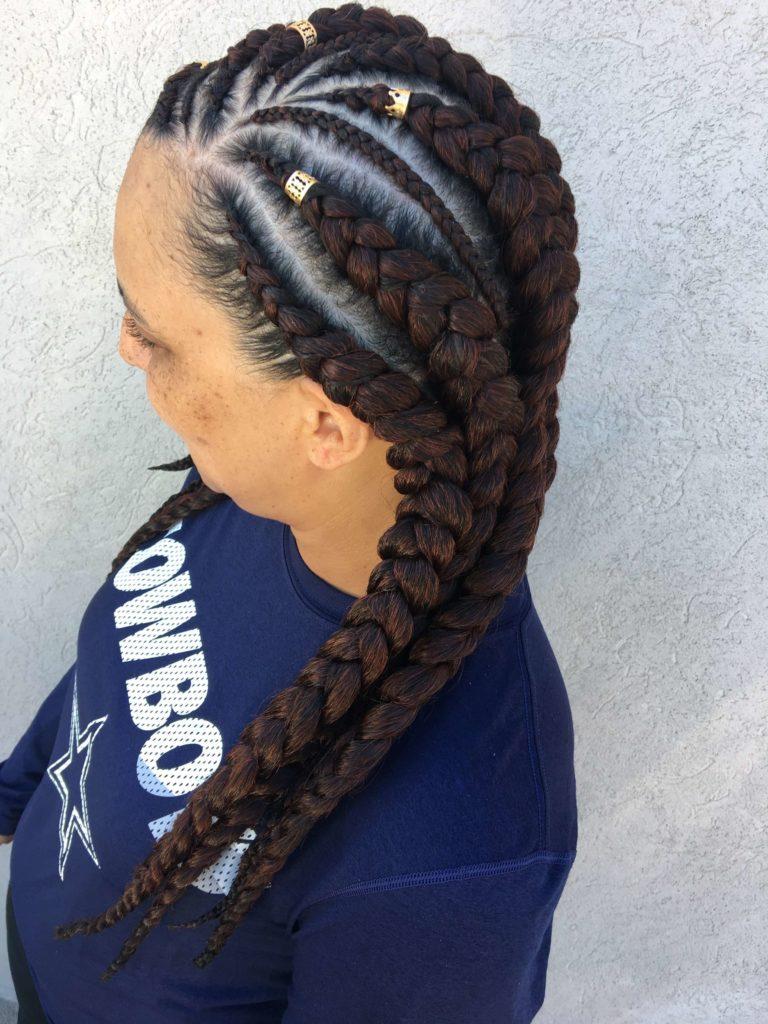 Six Braids Cornrow
