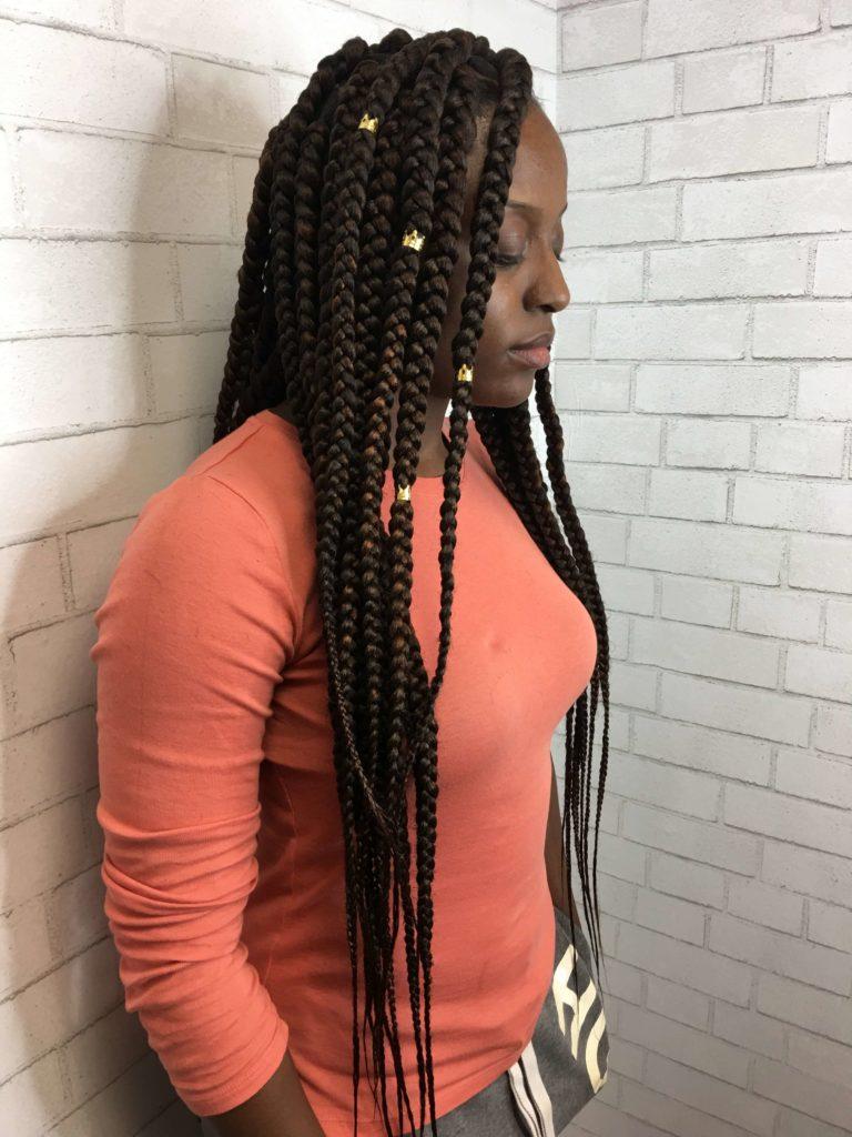 Waist Length Box Braids
