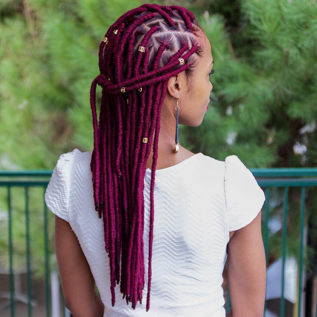 Burgundy Cornrow