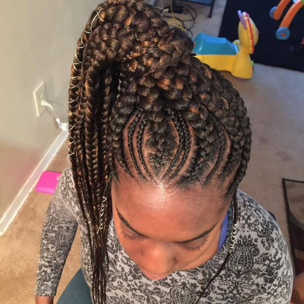 High Ponytail Cornrow