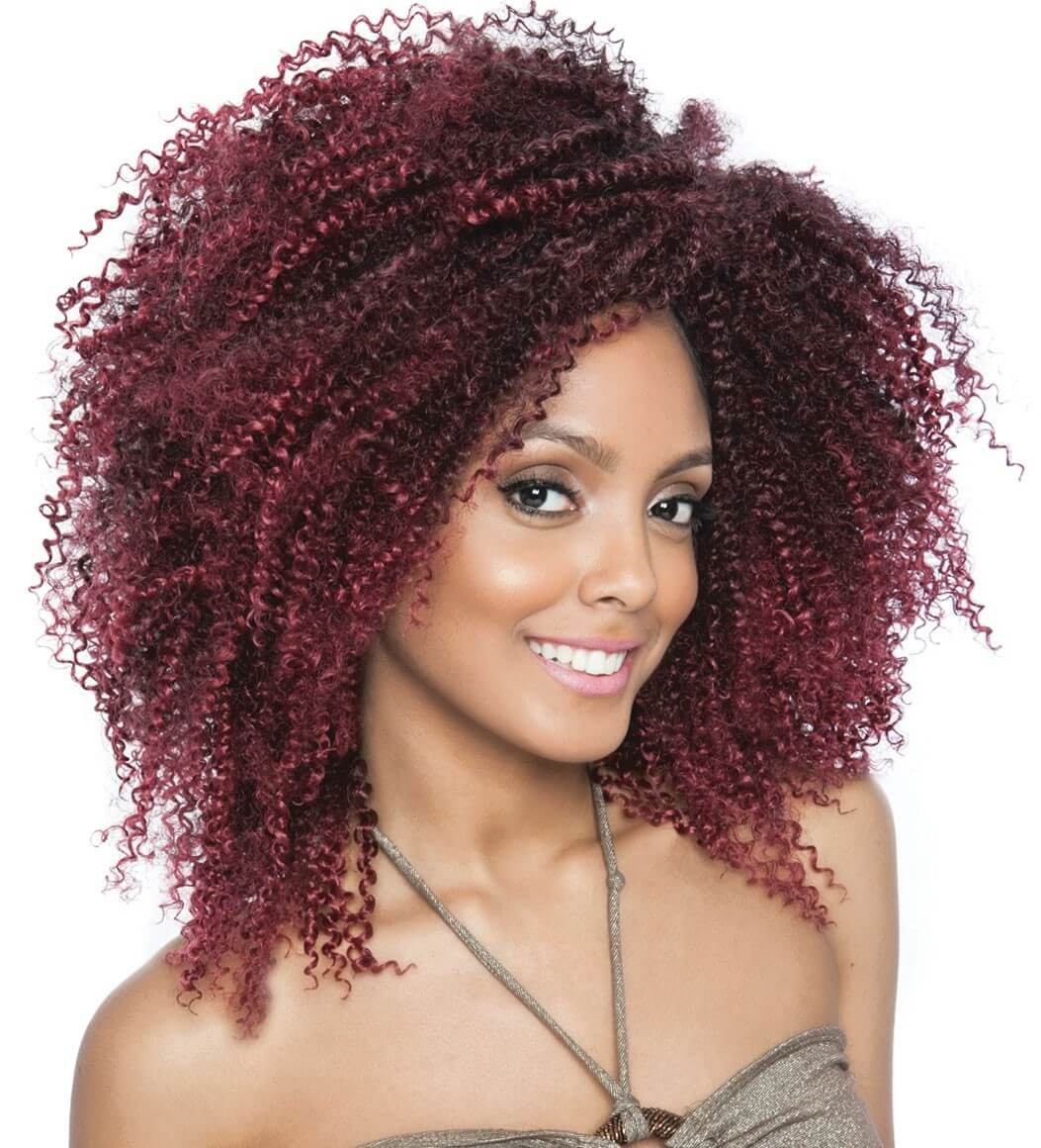 Burgundy Crochet Braids