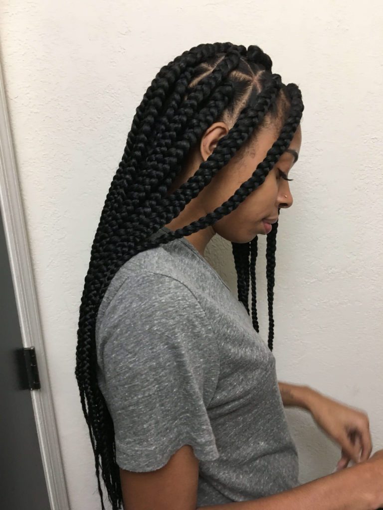 Waist Length Cornrow