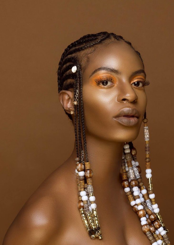 Cornrow Braids With Beads