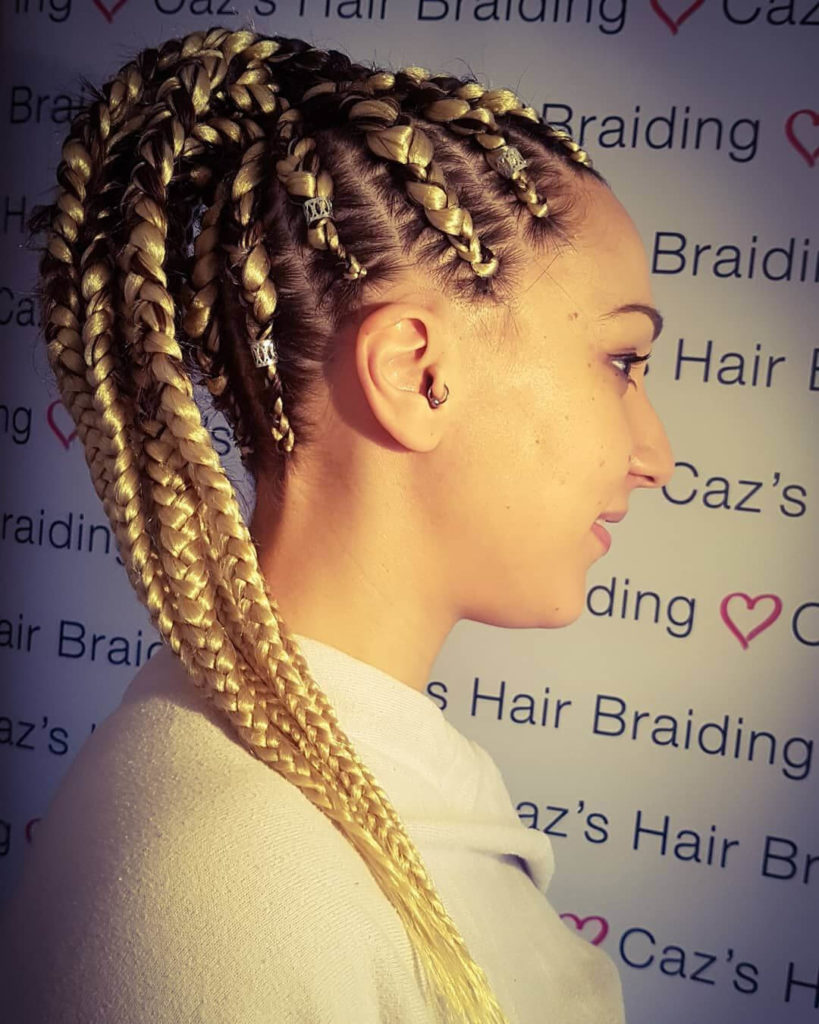Blonde Cornrow