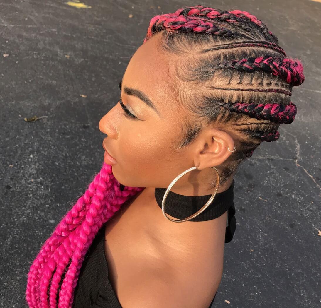 Pink Cornrow