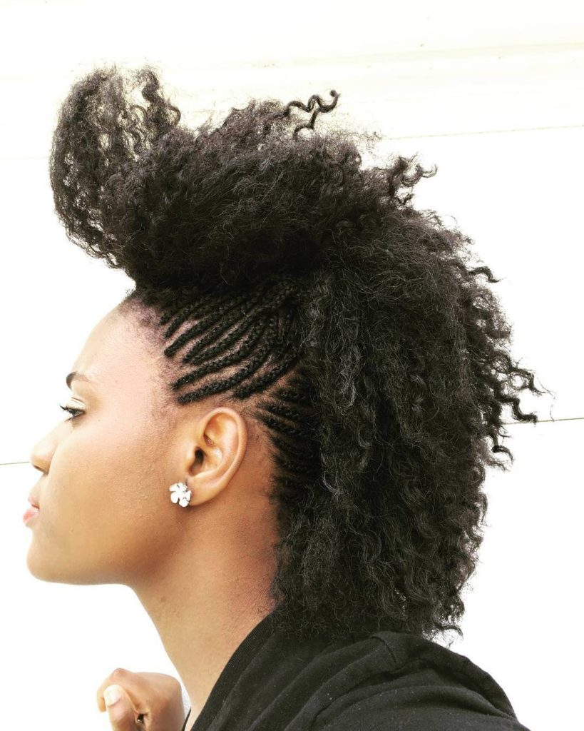 Side Mohawk Crochet Braids