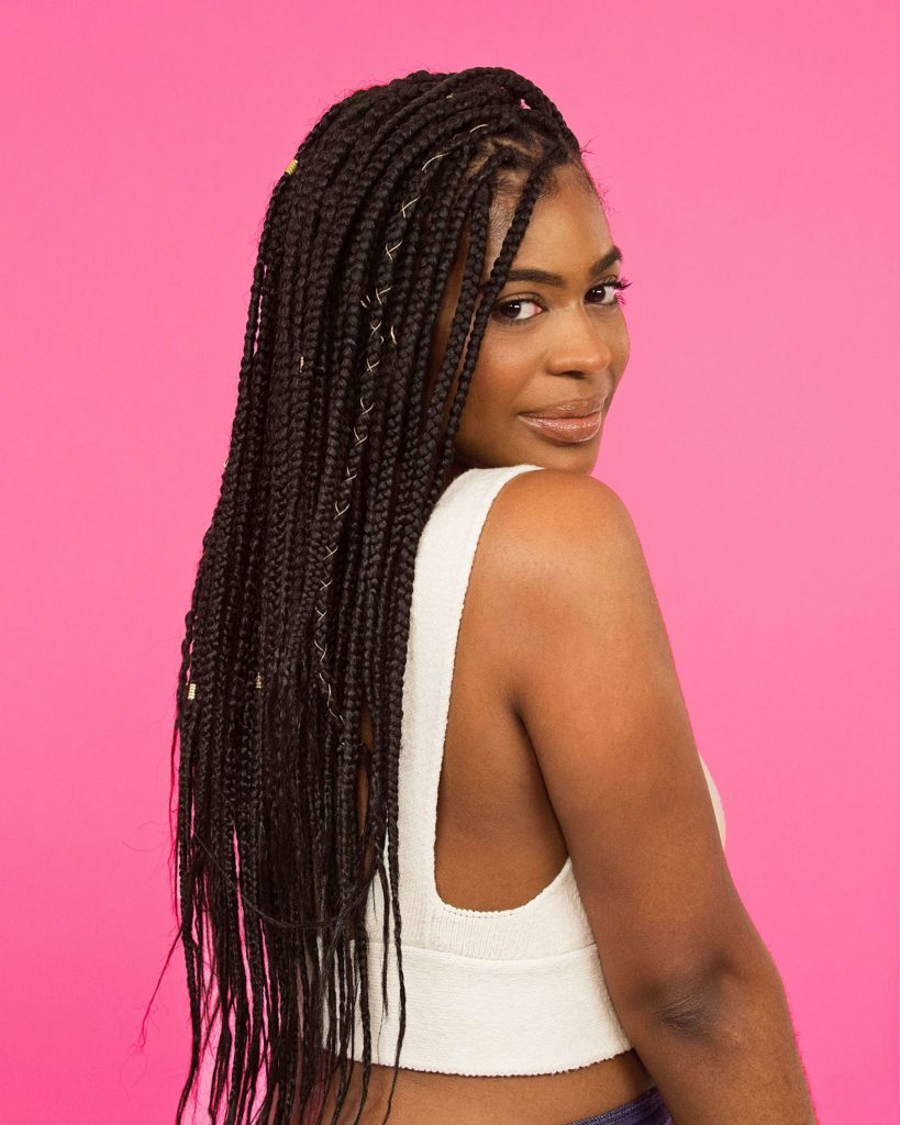Box Braids With String