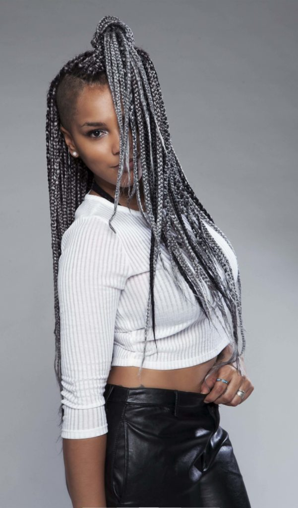 Grey Cornrow Braids