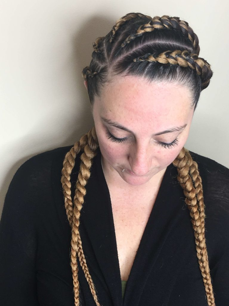 Five Cornrow Braids