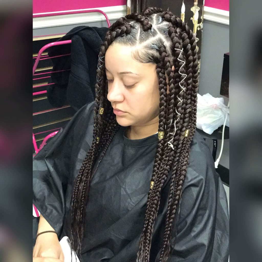 Cornrow Braids with String